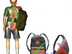 استفاده از کوله پشتی به صورت صحیح برای مدرسه و دانشگاه