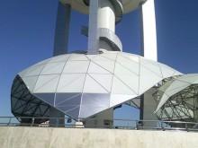 پوشش چتری بر روی سازه فضایی ( نمونه کار )