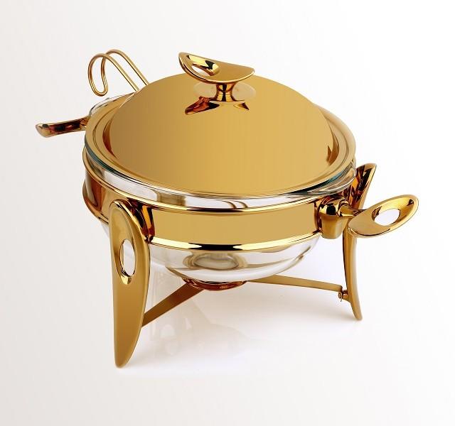 سوپ خوری طلایی براق کوچک تک استیل 916G