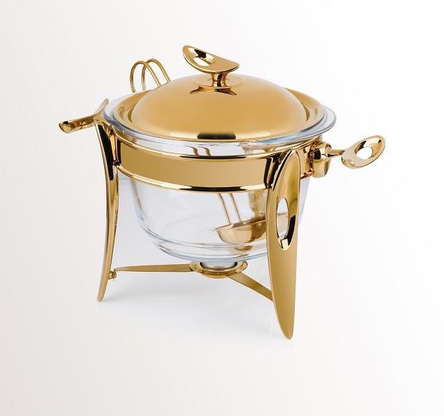 سوپ خوری طلایی براق بزرگ تک استیل 915G