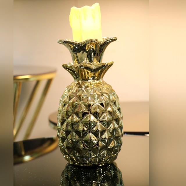 جا شمعی دکوری طرح آناناس