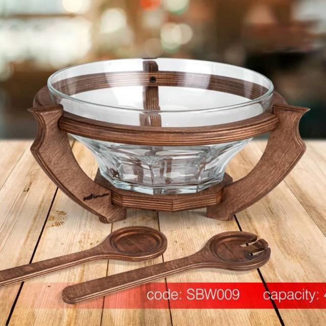 سوفله سالاد خوری چوبی SAFINOX کد SBW009