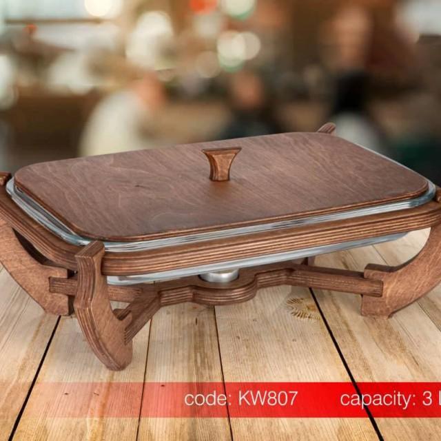 سوفله خوری مستطیل چوبی SAFINOX در دو سایز
