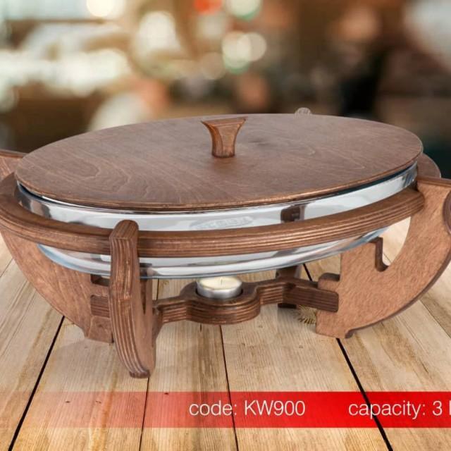 سوفله خوری بیضی چوبی SAFINOX در دو سایز
