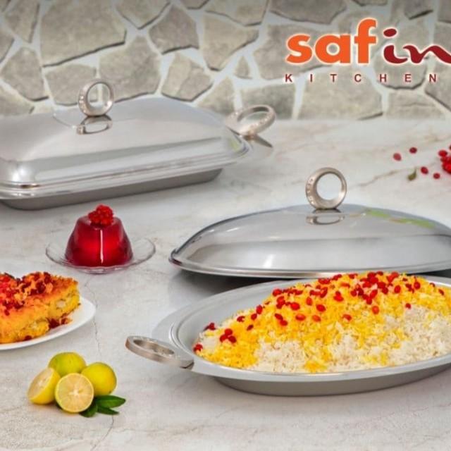 خوراک خوری درب دار استیل (حلقه نگین) بیضی و مستطیل SAFINOX