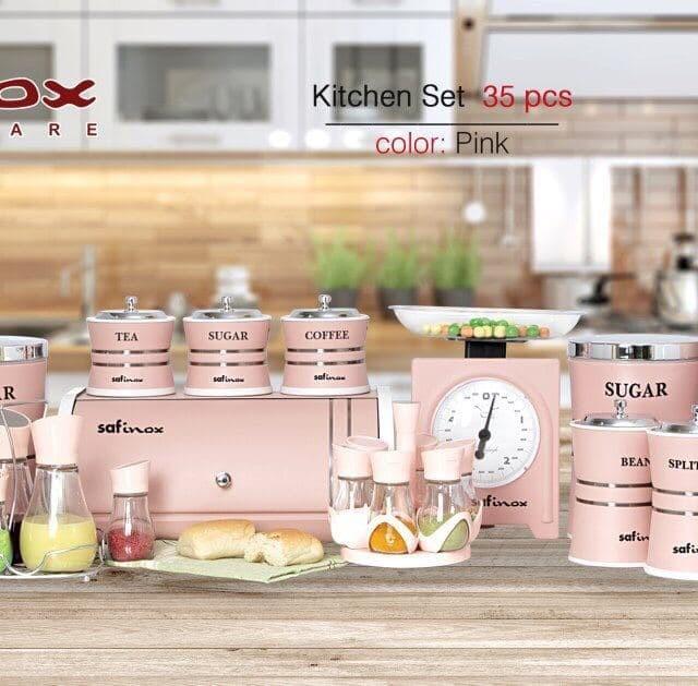 ست سرویس آشپزخانه 35 پارچه در چهار رنگ SAFINOX