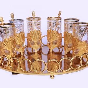 سینی آینه ای سالی نو بیضی طرح المپیک