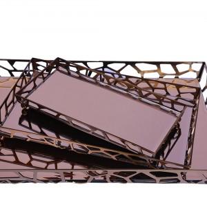 سینی آینه ای سالی نو طرح سنگی