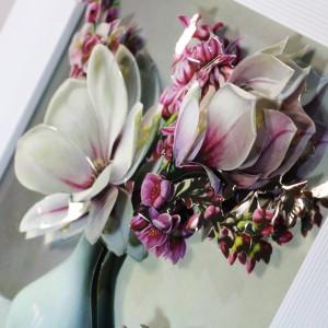 تابلوی سه بعدی طرح گل ارکیده
