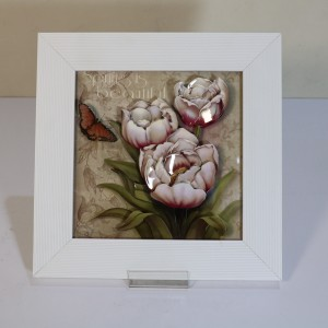 تابلوی سه بعدی طرح گل بنفش