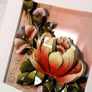 تابلوی سه بعدی طرح گل رز