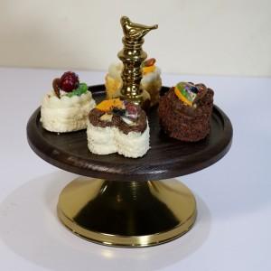 ست شکلات خوری و شیرینی خوری طرح چوب