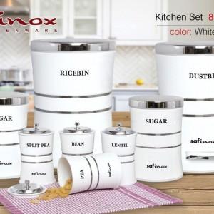 ست سرویس آشپزخانه 8 پارچه در چهار رنگ SAFINOX