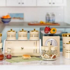 ست سرویس آشپزخانه 35 پارچه در سه رنگ طلایی SAFINOX