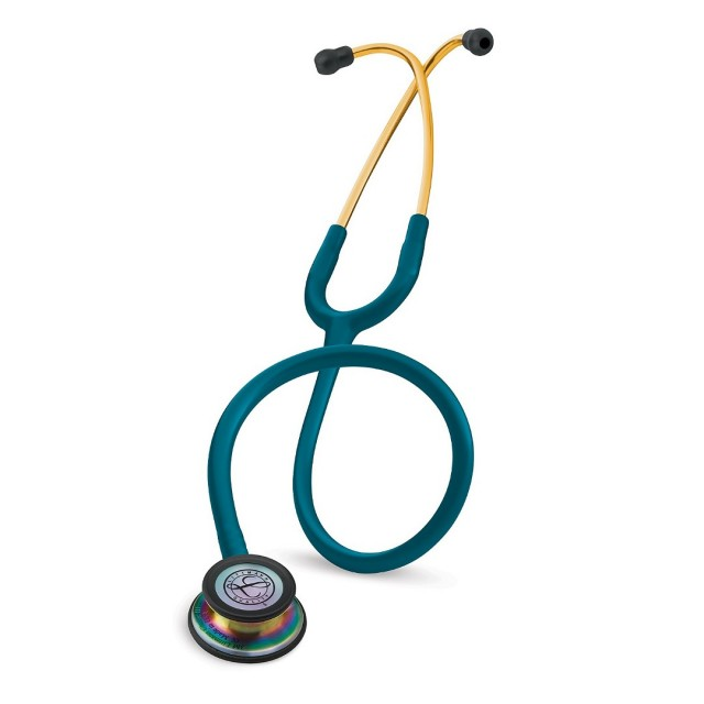 گوشی پزشکی لیتمن کلاسیک سه آبی کاربنی رنگین کمان 5807