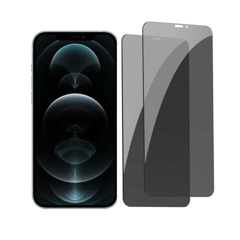 محافظ صفحه نمایش حریم شخصی باسئوس مدل Pricacy Anti Peeping برای گوشی اپل iphone 12 pro max بسته دو عددی