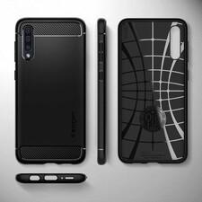 کاور اسپیگن مدل Rugged Armor مناسب برای گوشی موبایل سامسونگ Galaxy A50s / A30s / A50