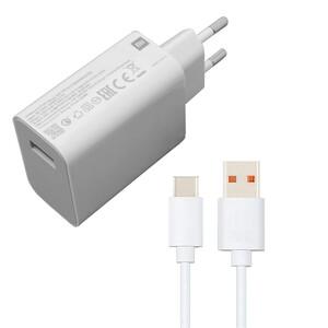 شارژر دیواری شیائومی مدل MDY-09-EN به همراه کابل تبدیل USB-C