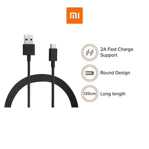 کابل شارژ USB به  USB-C شیائومی مدل  fast charge به طول 1.2 متر