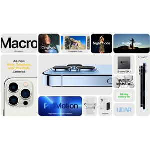 گوشی موبایل اپل مدل iPhone 13 Pro Max A2644 دو سیم کارت ظرفیت 256 گیگابایت و رم 6 گیگابایت