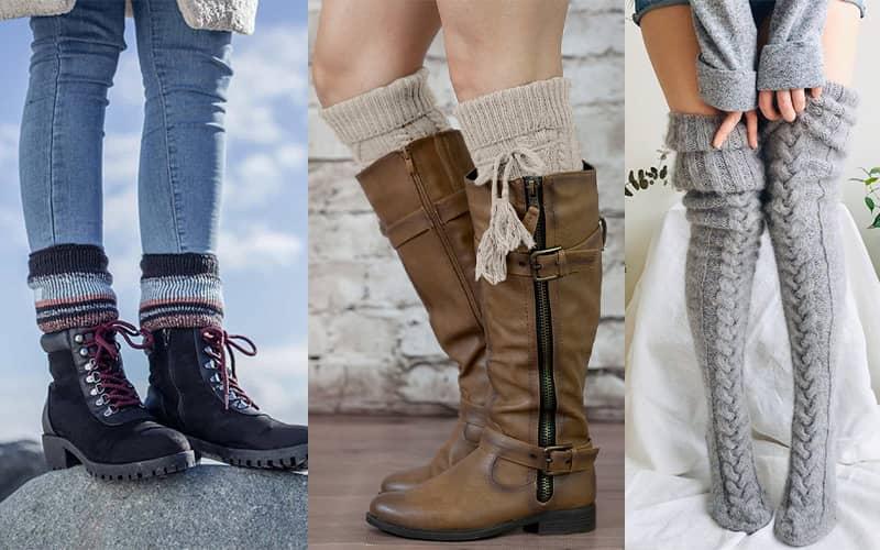 انواع جوراب بافتنی با قلاب