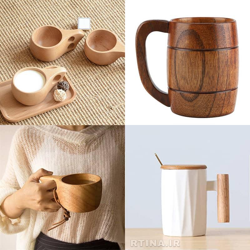 خرید ماگ چوبی طبیعی