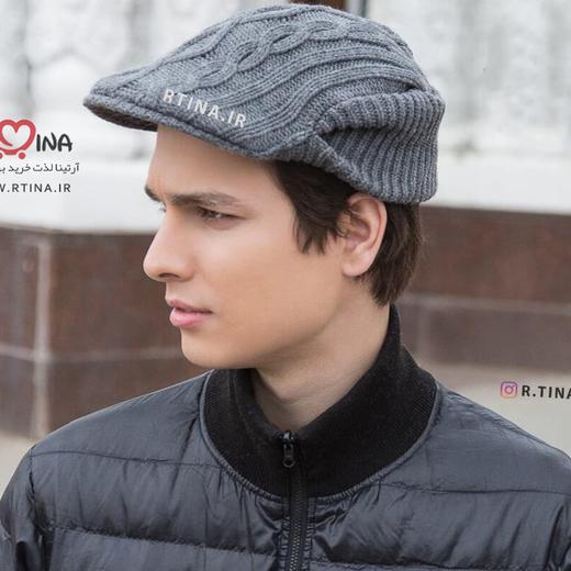 کلاه کپ بافتنی مردانه