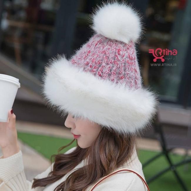 کلاه پشمی زمستانی دخترانه مدل B2
