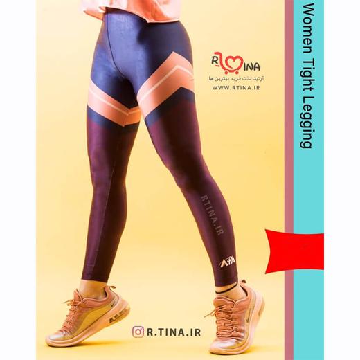 شلوار لگ براق ورزشی زنانه مدل آپا 3