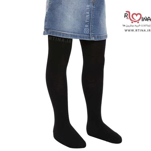 جوراب شلواری ساده مشکی دخترانه