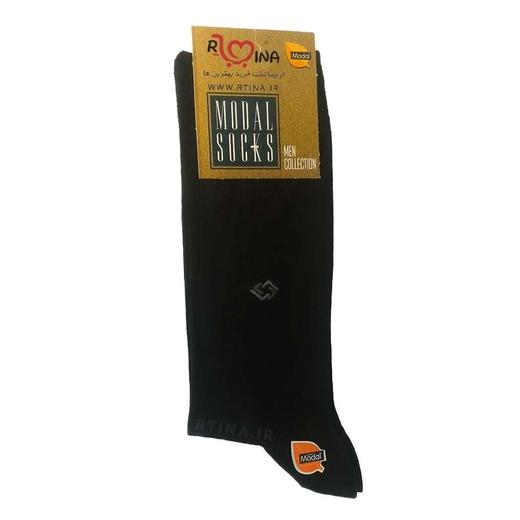 جوراب مردانه مشکی جنس گیاهی مودال