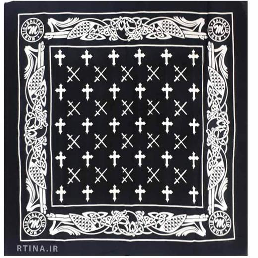 باندانا طرح صلیب مشکی