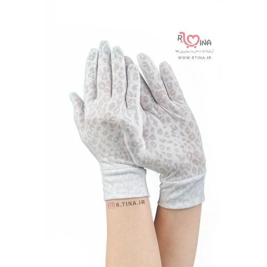 دستکش نخی زنانه مدل پلنگی کد s104