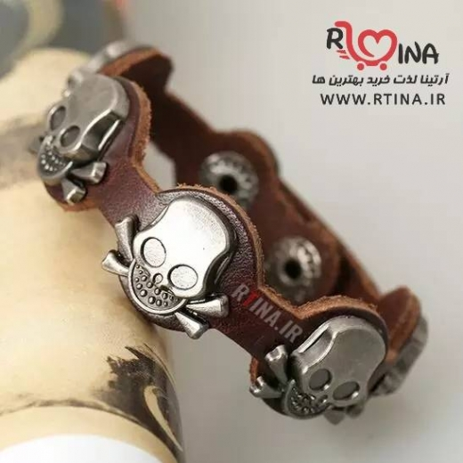دستبند دخترانه و پسرانه چرم اسکلتی مدل TY2