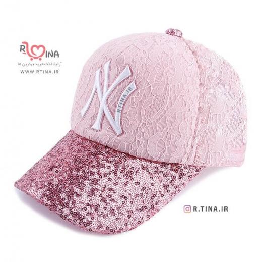 کلاه دخترانه اسپرت پولک دار مدل NY