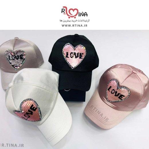کلاه کپ دخترانه اسپرت مدل Love