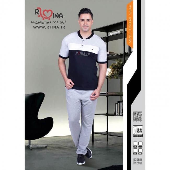 ست لباس راحتی تیشرت شلوار مردانه کد 205