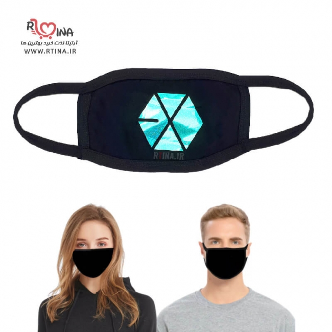 ماسک هلوگرامی طرح exo آبی