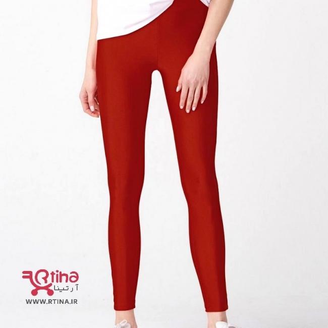 شلوار لگ مات زنانه رنگ قرمز مدل آپا f22