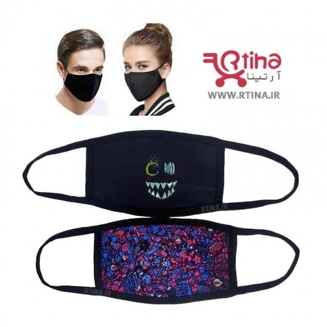 ماسک پارچه ای صورت طرح NERDS