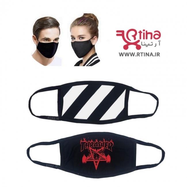 ماسک پارچه ای دو لایه طرح THRASHER