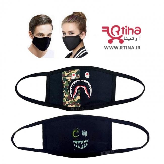 ماسک مشکی رنگ، پارچه ای مدل hj5
