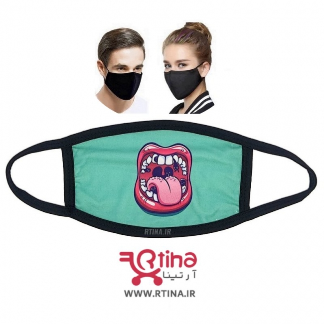 ماسک قابل شستشو طرح L88