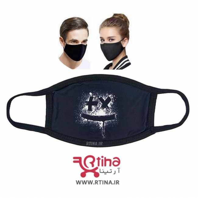 ماسک چند لایه قابل شستشو مدل انتزاعی صورتک