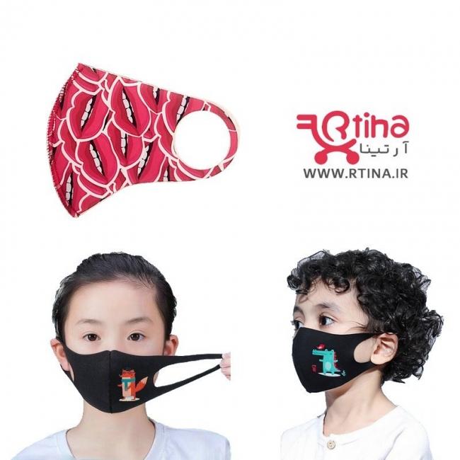 ماسک بچه گانه قابل شستشو(۳لایه و طرح دار)