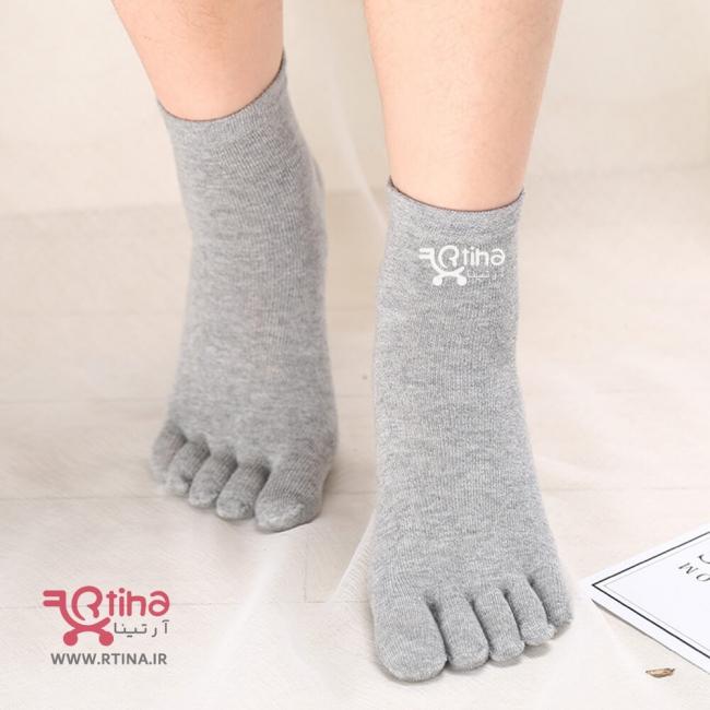 جوراب کوتاه طبی مدل پنج انگشتی