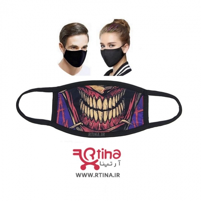 ماسک دو لایه طرح دار مدل NV1