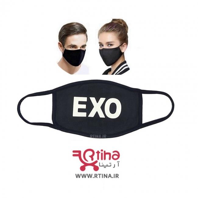 ماسک نخی مشکی طرح EXO3
