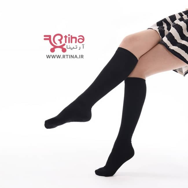 جوراب ساق بلند رنگی ساده
