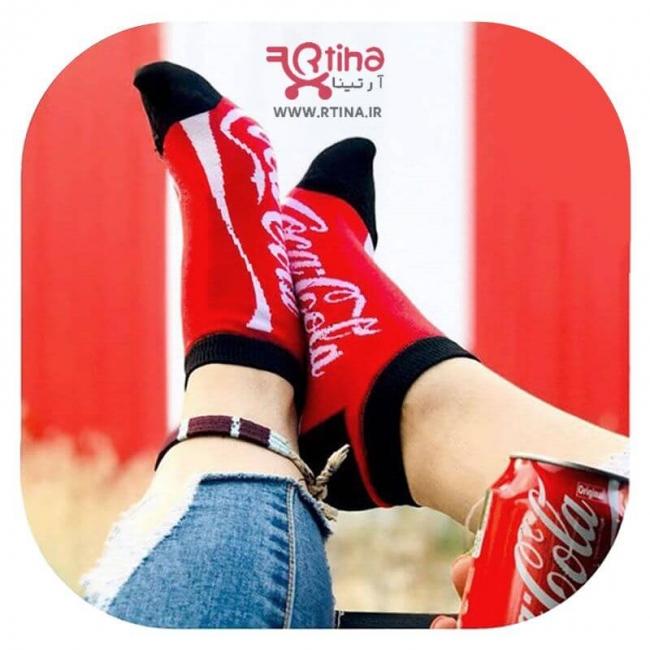 جوراب مچی طرح دار مدل coca coola